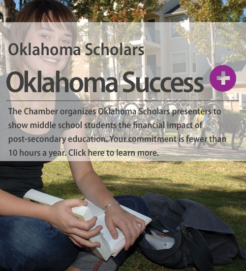 Learn more about the Chamber's Oklahoma Scholars program which aims to improve student class sele